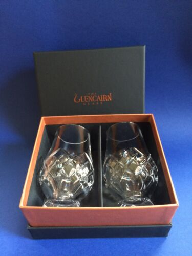 The Glencairn Official CUT Whisky Nosing Glass x 2 in Black /& Gold Gift Box