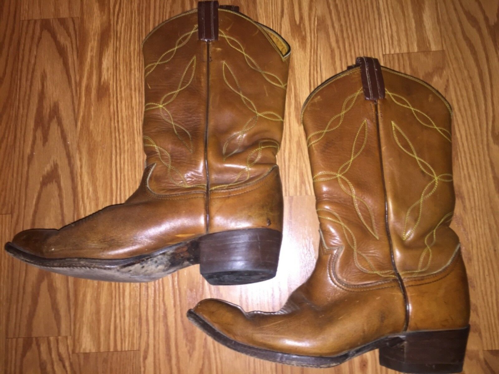 Used Uomo's Tony Lama Brown Pelle Cowboy Stivali SZ 9 9 SZ Western Made in Texas a3b914