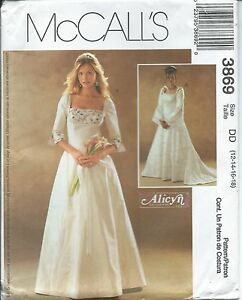 Details About M 3869 Sewing Pattern Alicyn Dress Bride Wedding Gown Sew Size 12 14 16 18 Uncut