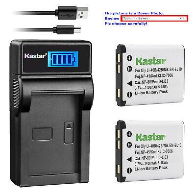 Fuji Fujifilm xp60//np-45 np-45a Premium batería BATTERY LCD cargador F