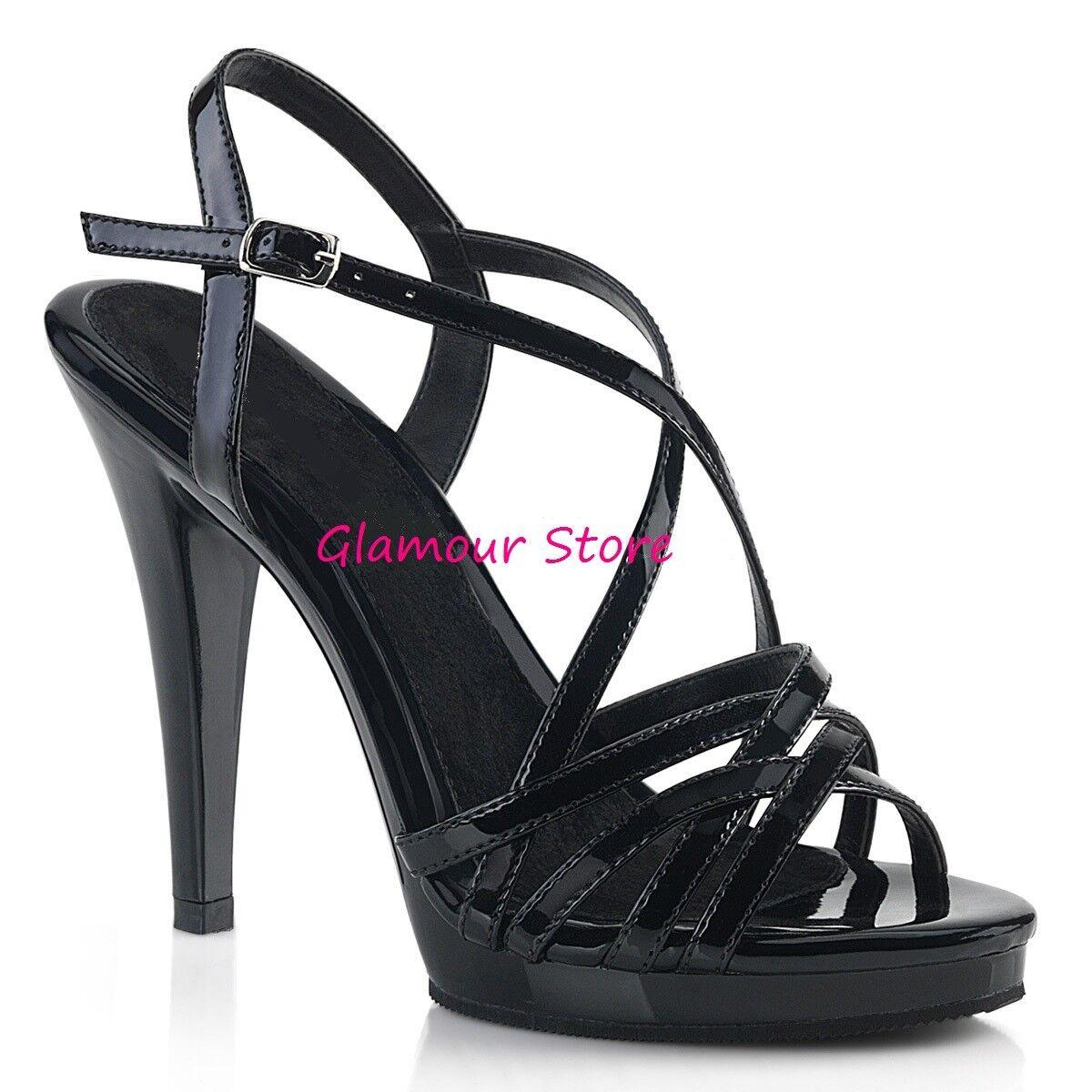 Sexy SANDALI tacco 11,5 in 2 CouleurI plateau cinturino noir noir noir e NUDO chaussures GLAMOUR 932ca4