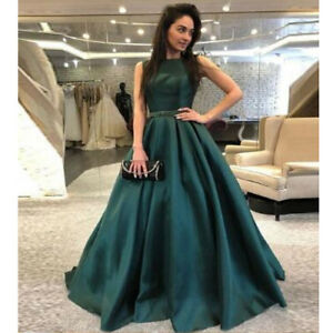 a06c7eac49d Details about Women Formal Wedding Long Evening Party Ball Prom Gowns  Cocktail Indian Dresses