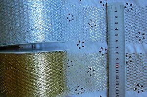 CHRISTMAS-Metallic-MESH-Gold-amp-Silver-65mm-5-Metre-Lengths-MBW-ChooseColour-LRD8