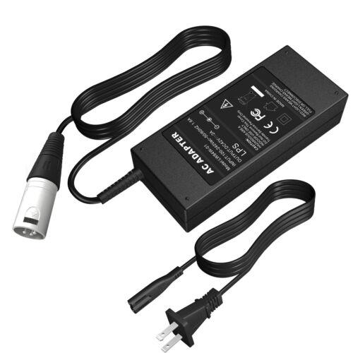 42V 2A charger for 36V electric bike ebike li-ion battery 3pin microphone XLR CL