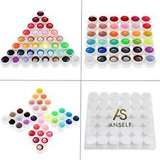 Anself 36 Colors Nail Art Pigment Set UV Gel Polish Solid Glue Polish Paint P1J8