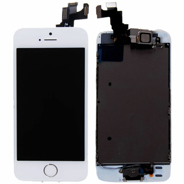 White LCD Lens Touch Screen Display Digitizer Assembly for iPhone 5S + Tool Kit
