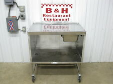 36 X 24 Stainless Steel Mobile Table Cabinet With No Drip Submarine Top 3 X 2