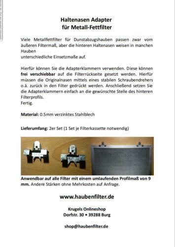 1,2,3 Metallfettfilter Dunstabzugshaube 320*250 32*25 Bosch Siemens Neff 322