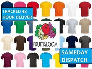 Confezione-Di-5-Uomo-Fruit-of-the-Loom-100-Cotone-Tee-In-Bianco-Maglietta
