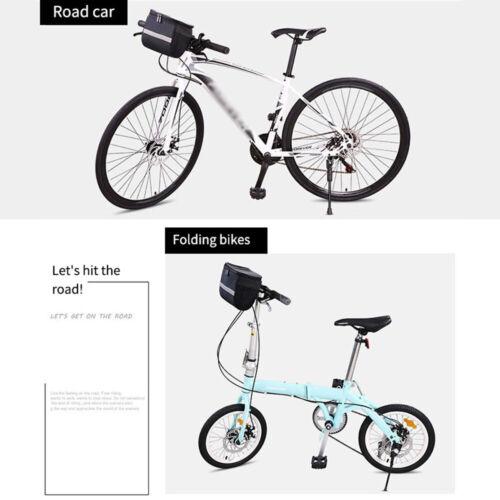 Bicycle Handlebar Basket Bag Bike MTB Reflective Front Pannier Tube Waterproof