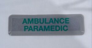 034-AMBULANCE-PARAMEDIC-034-Encapsulated-Reflective-Medic-Sew-On-Chest-Patch-B1