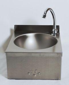 Waschbecken Edelstahl mini waschbecken handwaschbecken edelstahl niro va kniebedienung