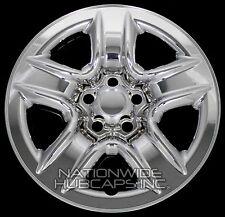 """4 New 2006-2012 Toyota RAV4 17"""" Chrome Wheel Skins Hub Caps Full Rim Skin Covers"""