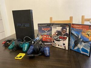 Sony PlayStation 2 PS2 Kids Bundle (SCPH-39001 - Fat Black) ALL TESTED & WORKING
