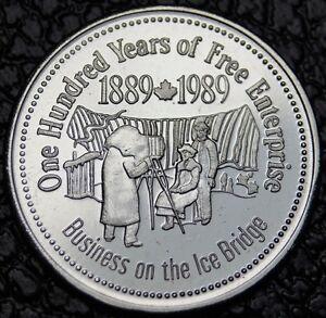 1889-1989 NIAGARA FALLS - One Hundred Years of Free Enterprise-Tra<wbr/>de Dollar