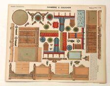 Pellerin Imagerie D'Epinal-No 192 Chambre a Coucher Grande vintage paper model