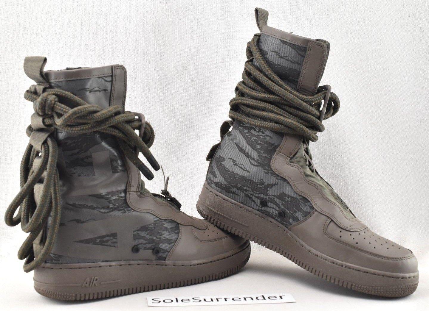 Nike SF AF1 Hi - SIZE 9.5 - AA1128-203 Special Field 1 Camo Ridgerock Black Grey