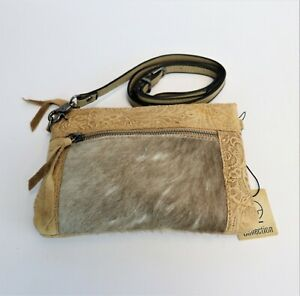 Hair-on-Hide-Genuine-Leather-Purse-Tooling-Floral-Leather-Western-Crossbody-Bag