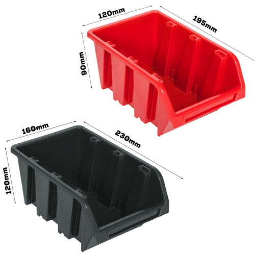25 Stapelboxen Lagersystem Wandregal 115 x 39 cm Schüttenregal Werkstattregal