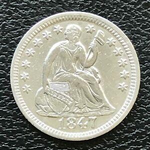 1847-Seated-Liberty-Half-Dime-5c-High-Grade-AU-UNC-13796