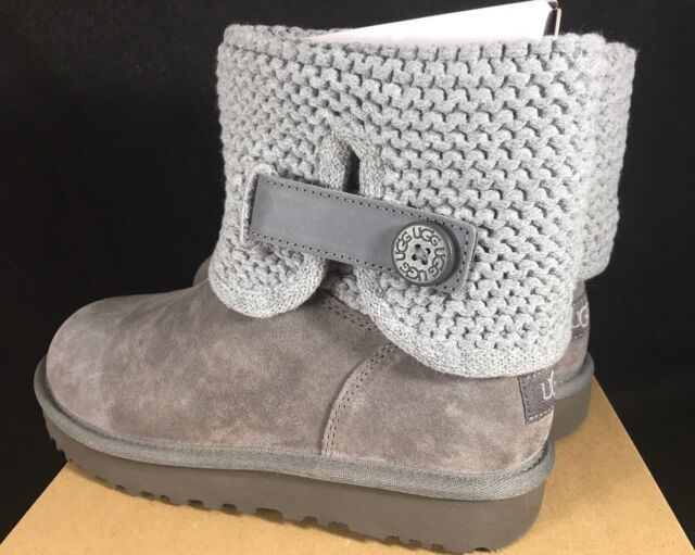 f8997811358 UGG Australia Women's Shaina Grey Gray Knit Boots NEW 1012534 Cuff Ankle  Bootie