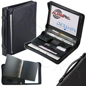 dermata mappe block kugelschreiber schwarz din a4 dokumentenmappe ringbuchmappe ebay. Black Bedroom Furniture Sets. Home Design Ideas