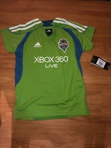 meet 00605 2509e Details about NWT - Adidas MLS Seattle Sounders F.C Soccer Jersey Girl  Youth Size-L Large