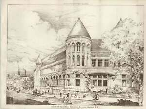 1887-Design-For-Young-Men-039-s-Association-Building-Buffalo-NY-HH-Richardson