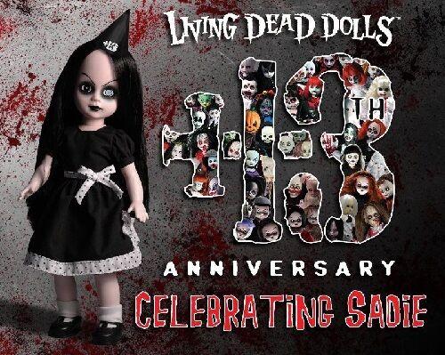 LIVING Dead Dolls-festeggiare Sadie - 13th ANNIVERSARIO Bambola.