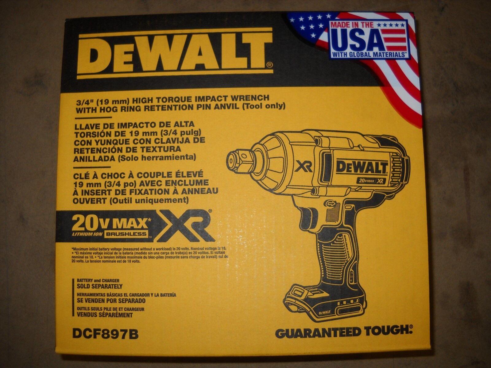 DeWALT DCF897B 20 Volt 3/4