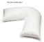 Duck-Feather-Down-V-Shaped-Pillow-or-Cover-Orthopaedic-Nursing-Back-Neck-Support thumbnail 10