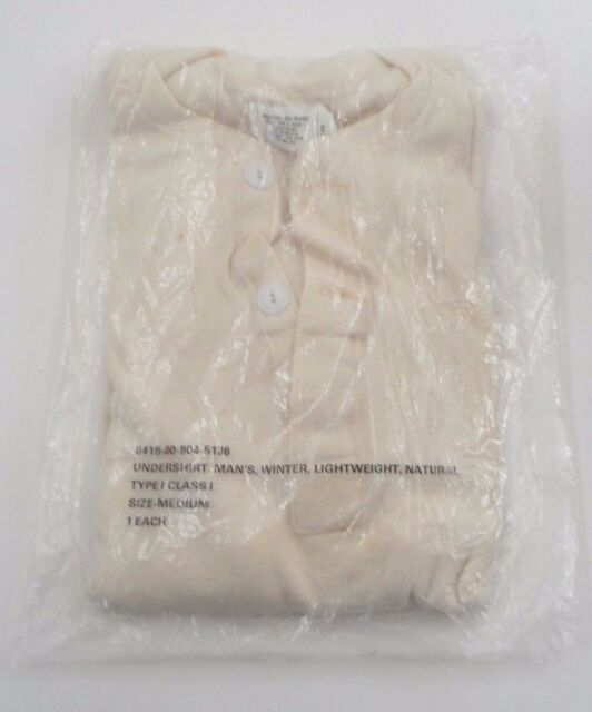 NOS US Military USGI Men's Cold Weather Winter Lightweight Undershirt Size Med