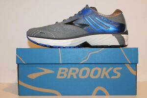Mens Brooks Adrenaline GTS 18 Support Running Shoes Grey Blue Black WIDE 2E