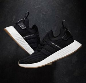 Adidas Originals NMD_R2 Primeknit PK Black GUM White Japan Pack BY9696 Mens 8