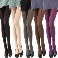 Women 120D Thick Tights Stockings Pantyhose Footed Long Socks Opaque Over Knee