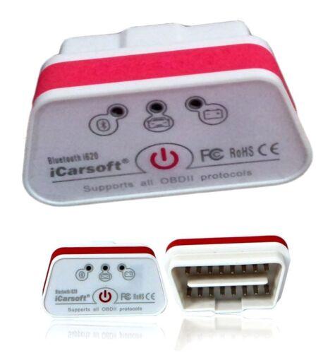 Original iCarsoft i620 Bluetooth OBD II 2 EOBD Diagnose-Gerät f viele Fahrzeuge