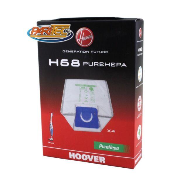 HOOVER H68 Sacchetti Aspirapolvere DIVA Pure Epa - Anti odour 35601148 4pz