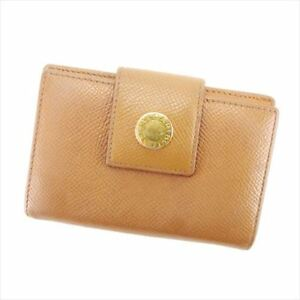 Bvlgari-Card-Case-Brown-Woman-unisex-Authentic-Used-T6021