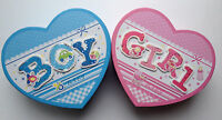 Baby Keepsake Boxes Boy Girl Blue Pink Heart Large Medium Small Box Gift