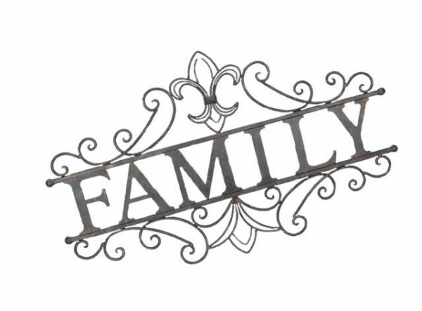 24.25-Inch Youngs 13651 Family Welcome Metal Wall Sign