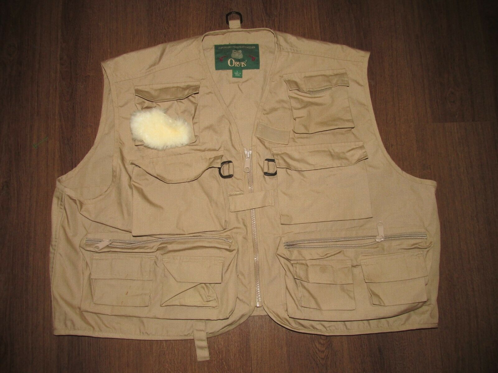 Orvis Tan Fly Fishing Vest Mens Large H4