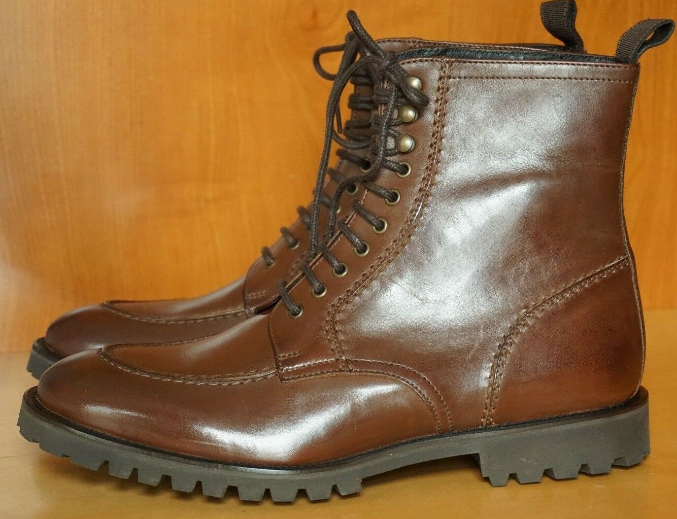 NEW WITH BOX! THE KOOPLES APRON STITCHED MOC TOE BOOT FRANKENSTITCH COMMANDO