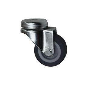 Apparaterollen Transportrollen Lenkrolle mit Rückenloch 50mm mit Gummi Rad