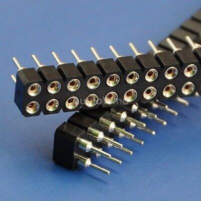 "10x Dual Row 2x40Pin 0.1""/2.54mm Female Socket Connector Strip, Round Hole."