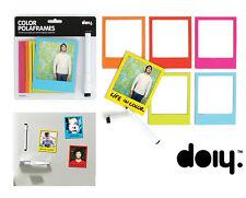 DOIY Polaframes NEU/OVP 6 magnetische Design Bilder-Rahmen m. Stift wie Polaroid