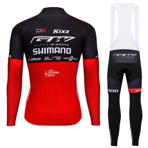 Winter Cycling Thermal Jersey Sports Bike Wear Long Shirt bib Maillot Ciclismo L