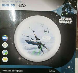 Philips-Star-Wars-10-Watts-LED-65w-Wall-amp-Ceiling-Light-IP20-900-Lumens-Warm