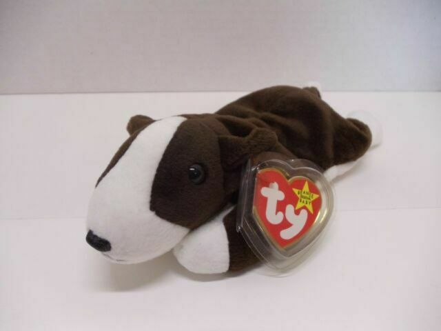 Bruno the Bull Terrier Dog MWMT Ty Beanie Babies