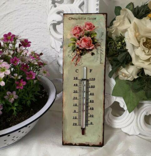 Thermomètre muraux roses température aussenthermometer 25 cm