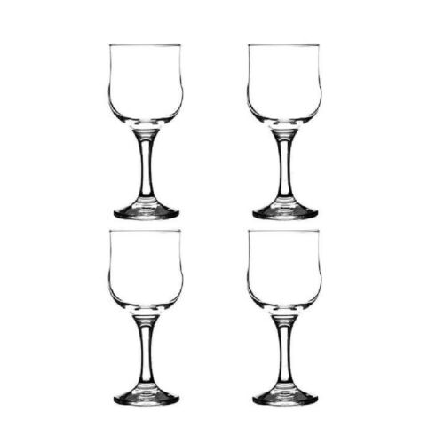 Set Of 4 ST3314 Rayware Tulip Red Wine Glasses